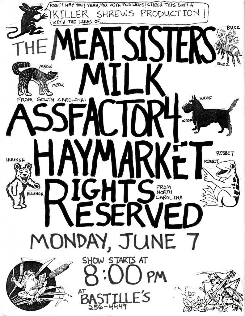 Three Sisters Garden Drawing Flyer The Meat Sisters