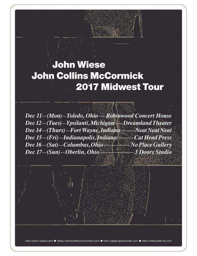 2017-12-11 john wiese john mccormick tour poster